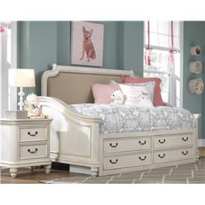 Samuel Lawrence Madison Twin Bedroom Group w/ Storage Footboard