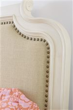 Curved Molding and Nailhead Detail