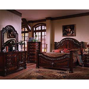 Morris Home Furnishings San Marino Pedestal Extension Formal Dining Table