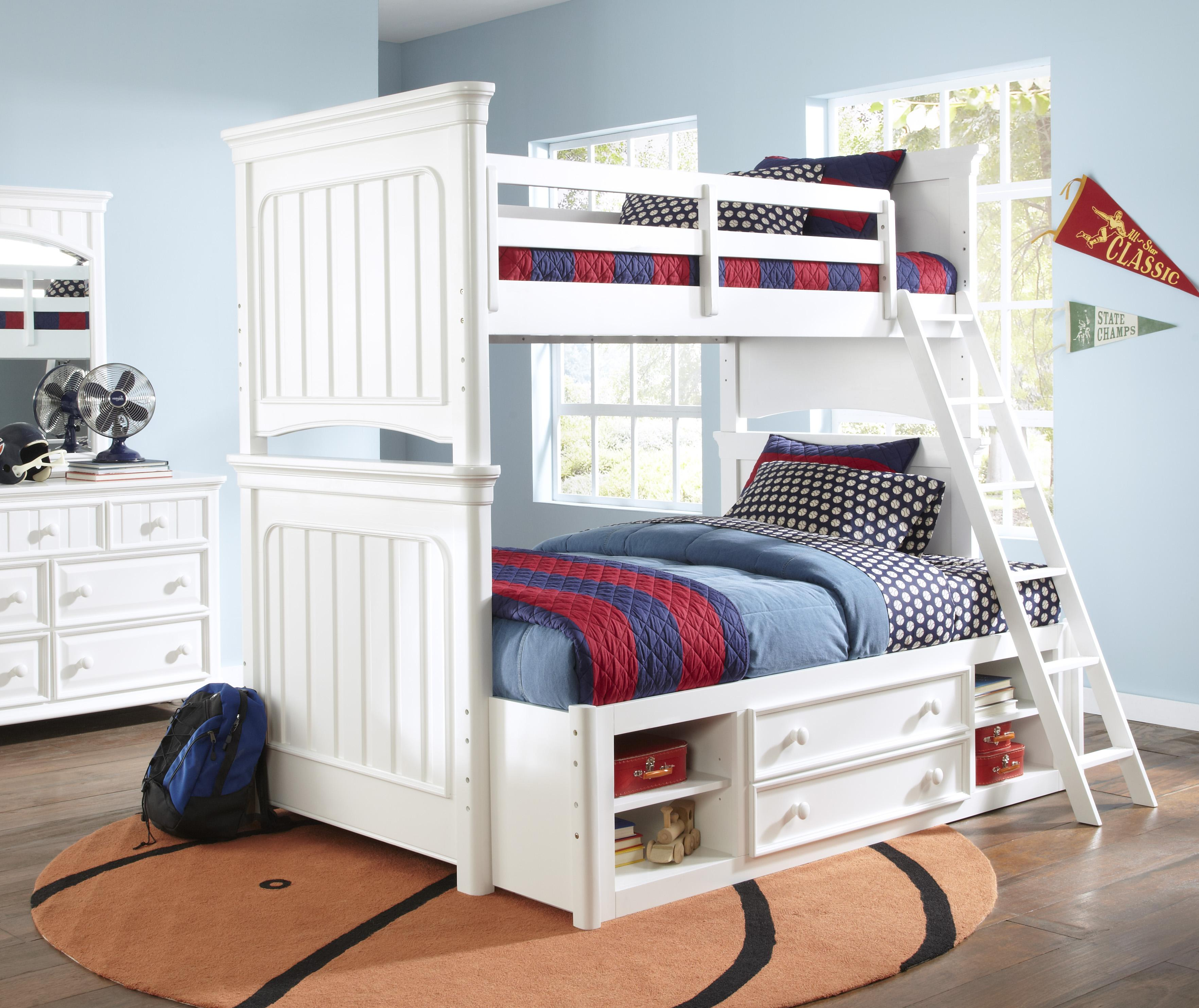 Kidz Gear Campbell Twin Over Full Bunk Bedroom Group - Item Number: 8466 F Bedroom Group 1