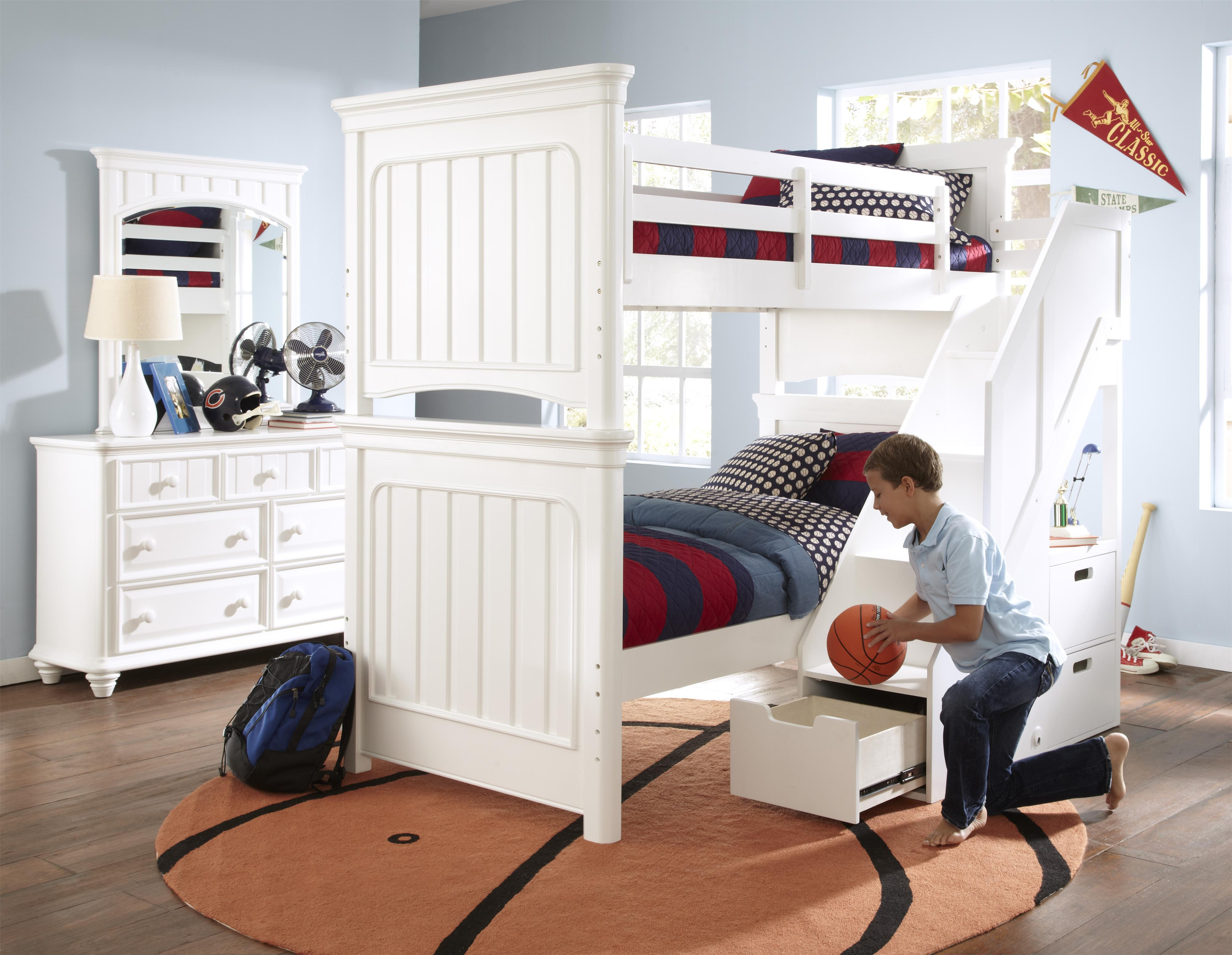 Kidz Gear Campbell Twin Over Twin Bunk Bedroom Group - Item Number: 8466 T Bedroom Group 2