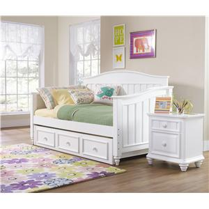 Morris Home Furnishings Shelbourne White Twin Poster Bed