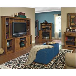 Sauder Harvest Mill 2 Door Panel Tv Stand Westrich Furniture