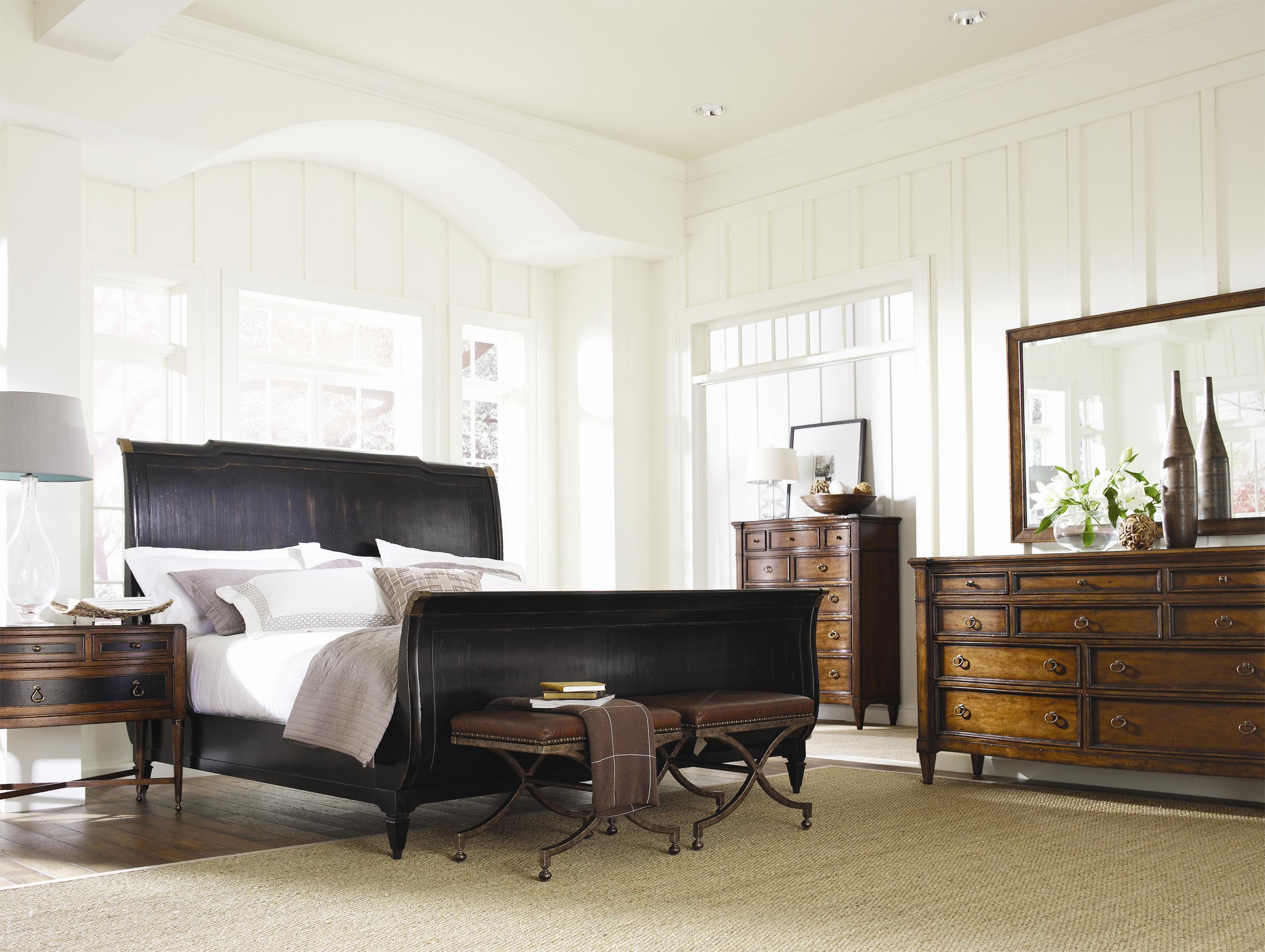 Schnadig Bedroom Furniture Schnadig American Kaleidoscope California King Sleigh Headboard