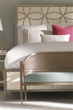 An Elegant Design Style Accents this Bed with Curvaceous Lines for a Self-Assured Elegance