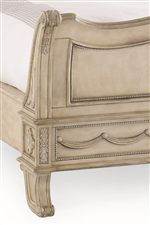 Headboards and Footboards Feature Collection Signature Dentil Moulding, Paneling, Scrolling and Fleur de Lis Accents