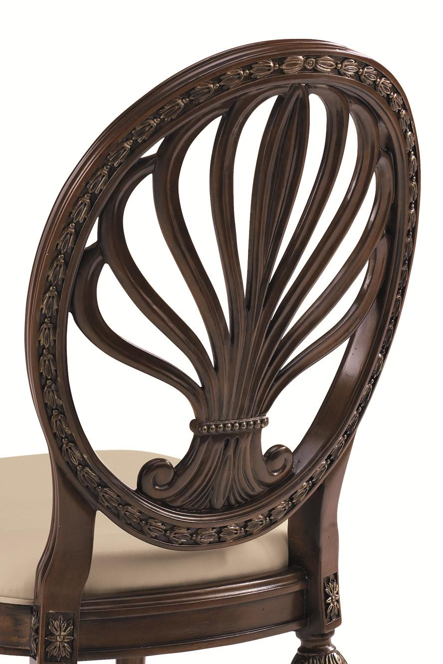 Schnadig Empire II Traditionally Moulded Upholstered Picture Frame Dining Arm Chair