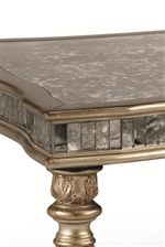 Tables Feature Antique Mirror Tops and Aprons