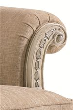 Rolled Arms with Decorative Wood Trim