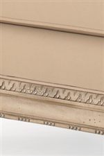 Decoratively Carved Exposed Wood Frame