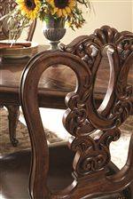 Decorative Pierced Back Dining Chairs