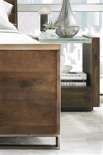 The Natural Wood Tone Blends with Worn Metal in Many Pieces to Create an Industrial Elegance