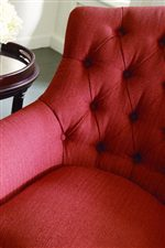 Beautiful Tufted Details Merge with Tight Pulled Upholstery