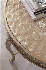 Textured Golden Capiz Shell Tops
