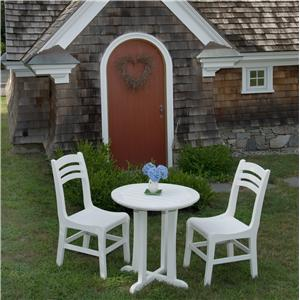 Seaside Casual Westport 3 Piece Outdoor Dining and Chair Set