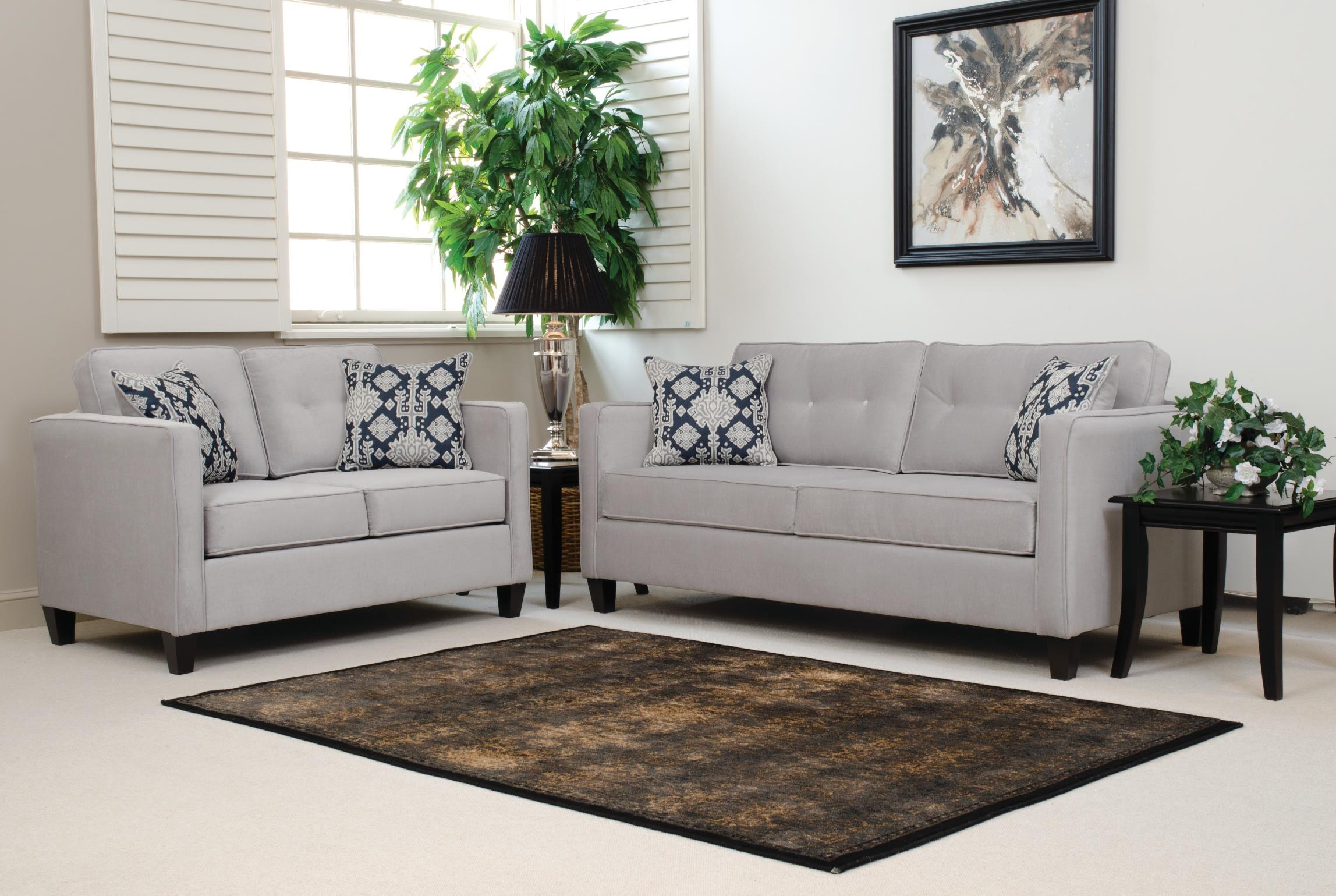 Serta Upholstery By Hughes Furniture 1375 Loveseat With Casual Contemporary  Style   Colderu0027s Furniture And Appliance   Love Seats Part 39