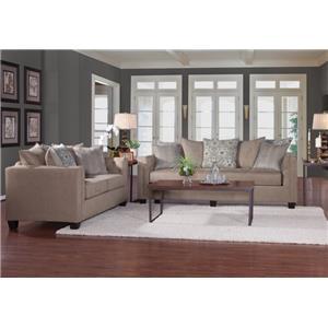 Serta Upholstery 4850 Stationary Living Room Group