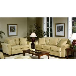 Serta Upholstery by Hughes Furniture 4900 Queen Size Sofa Sleeper with Modern Flared Arms and