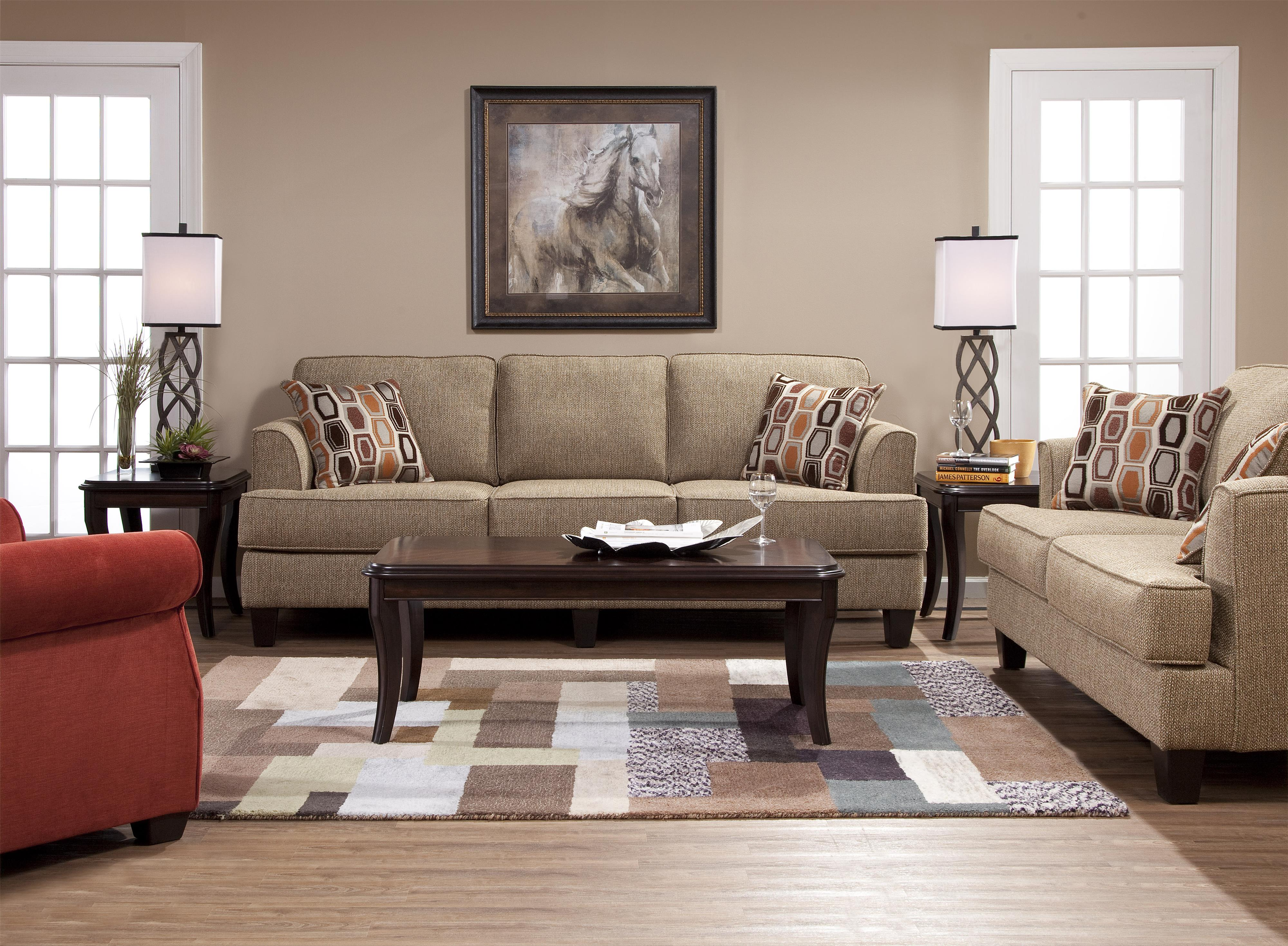 Hughes Furniture 5600 Transitional Love Seat With Accent Pillows   Wayside  Furniture   Love Seats