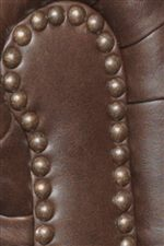 Nailhead Trim is the Perfect Accent for the Rich Dark Leather