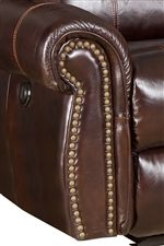 Softly Rolled Arms with Nailhead Trim