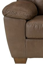 Large Plush Pillow Arms and Tapered Wood Feet