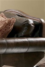 Rolled Arms and Carved Wood Trim
