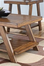 Thick Look Table Tops and Plank Detailing for Rustic Feel