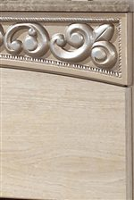 Curving Friezes with Deeply Carved Scroll Motifs at Top Edge of Cases