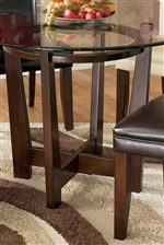 Four Leg Table with Connecting Base Design