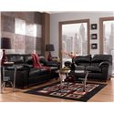 Signature Design by Ashley Commando - Black Stationary Living Room Group - Item Number: 64500 Living Room Group