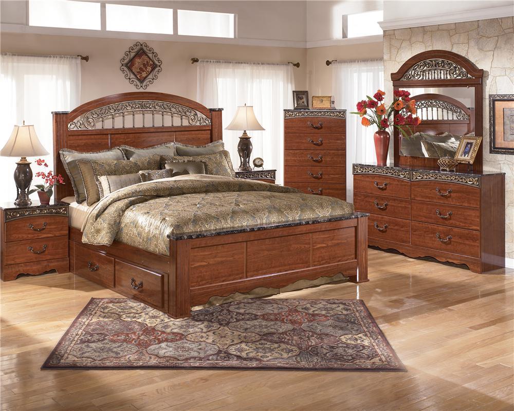 Signature Design by Ashley Fairbrooks Estate King Bedroom Group - Item Number: B105 K Bedroom Group 2
