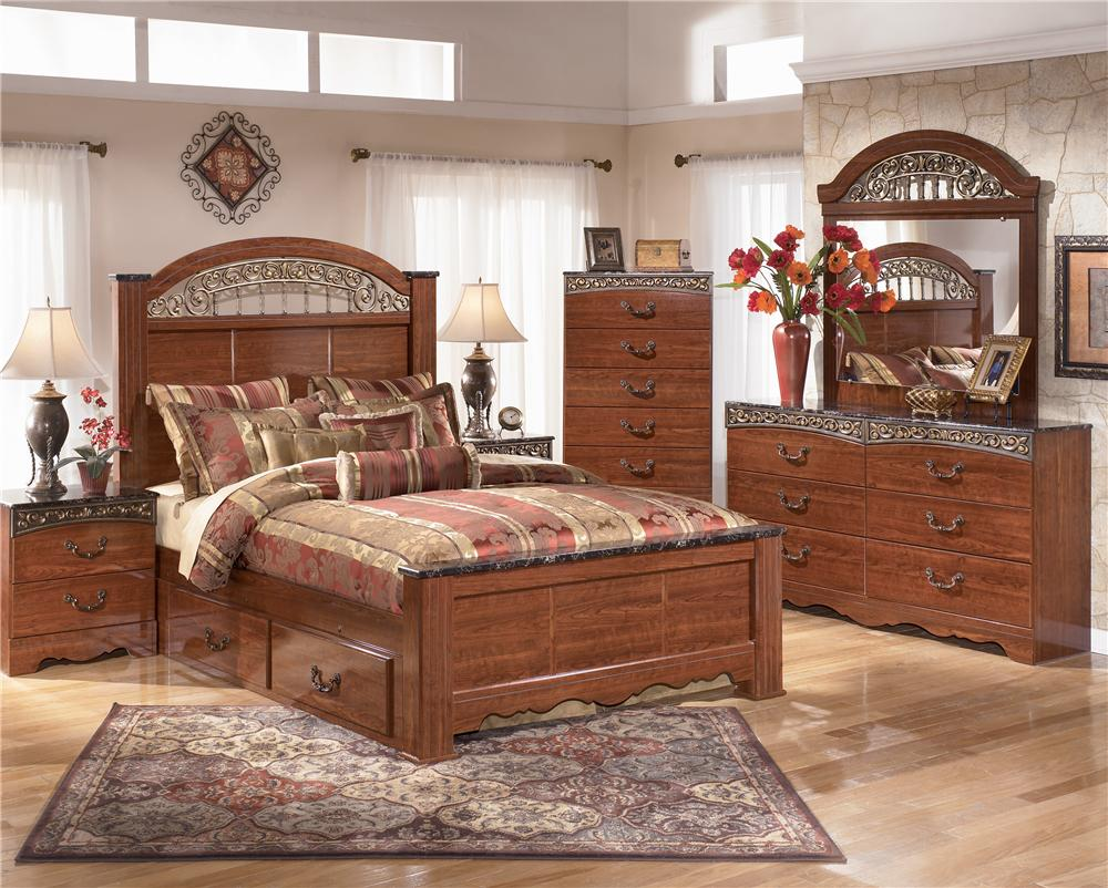 Signature Design by Ashley Brookfield 5pc Queen Storage Bed Set ...