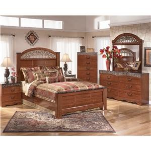 Signature Design by Ashley Fairbrooks Estate 6 Drawer Dresser & Vertical Mirror