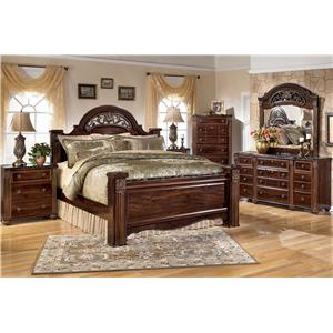 Signature Design by Ashley Gabriela Traditional 9 Drawer Dresser with Mirror