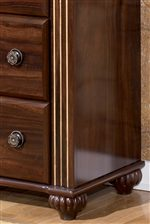 Fluted Bun Style Feet Shown on Dresser