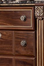 Framed Top Drawers with Gilded Bead Details