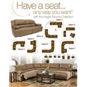 Signature Design by Ashley Hogan - Mocha 2 Seat Reclining Sofa - Multiple Configuration Options