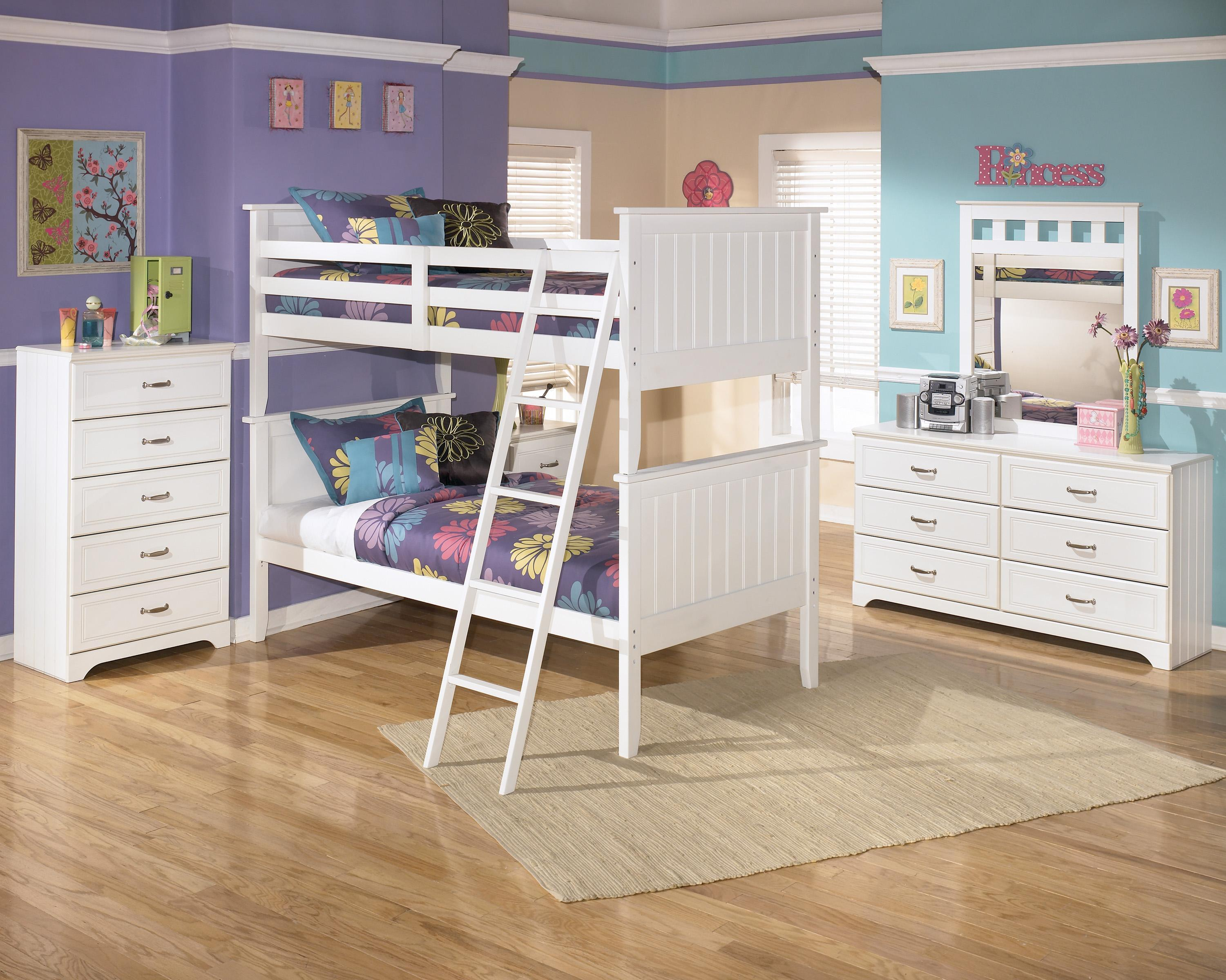 Signature Design by Ashley Lulu Twin Bunk Bedroom Group - Item Number: B102 T Bedroom Group 1