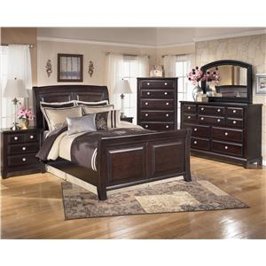 Signature Design by Ashley Ridgley 10 Drawer Dresser & Mirror Combo