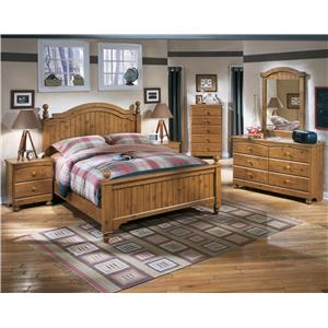 Signature Design by Ashley Stages Twin Loft Bed with Right Storage Steps, Bookcase & Chest