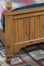 A Rustic Plank Design is Also Featured on the Footboard.