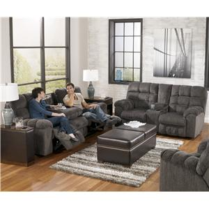 Signature Design by Ashley Acieona - Slate Reclining Living Room Group