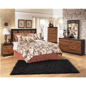 Signature Design by Ashley Furniture Aimwell Two-Tone Finish Full Panel Headboard