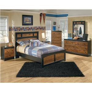 Signature Design by Ashley Aimwell Two-Tone Finish Full Platform Bed