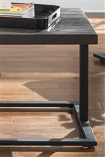 Modern Cantilever Metal Bases with Wire Brushed Ash Veneer Table Tops
