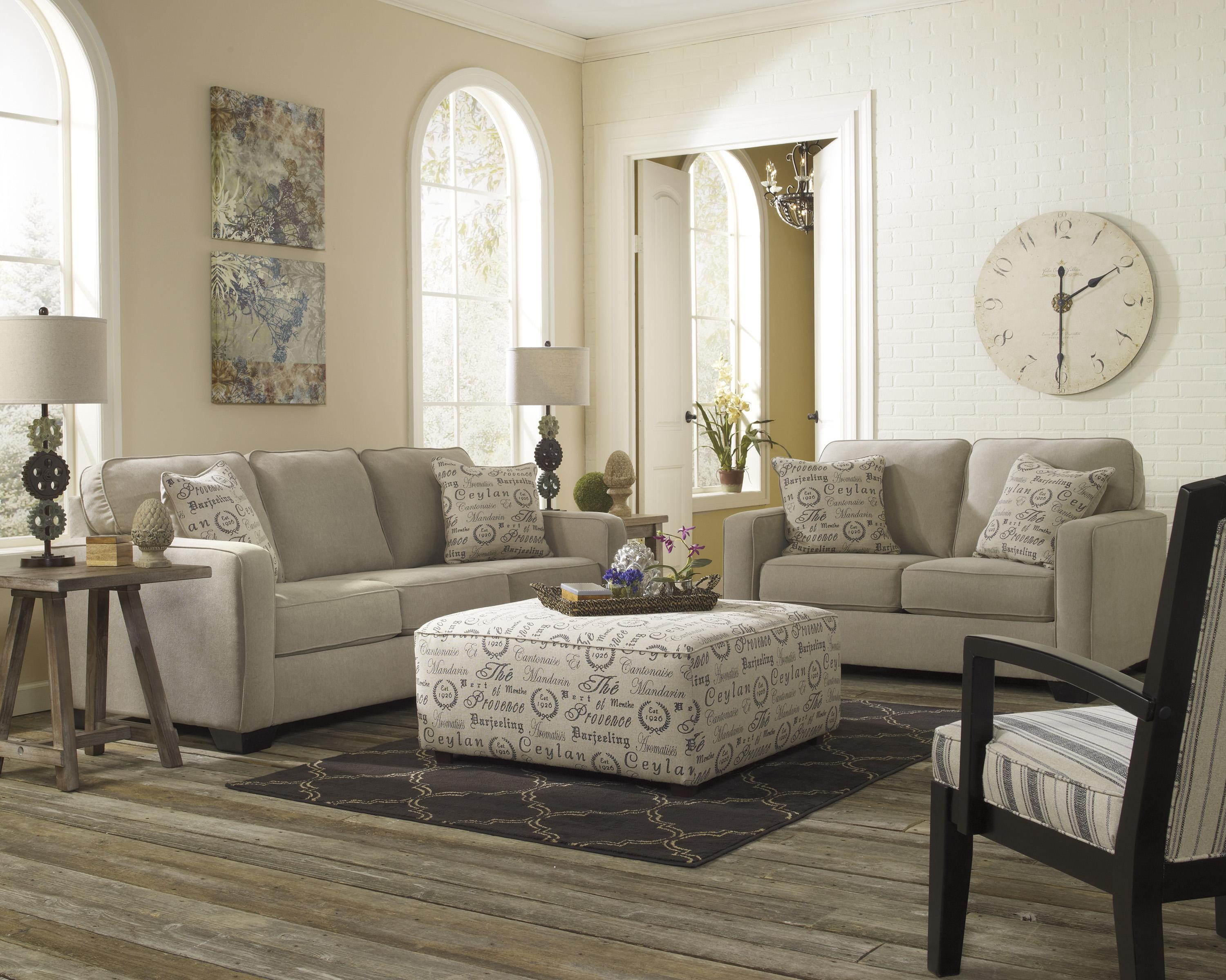 Signature Design by Ashley Furniture Alenya - Quartz Stationary Living Room Group - Item Number: 16600 Living Room Group 4