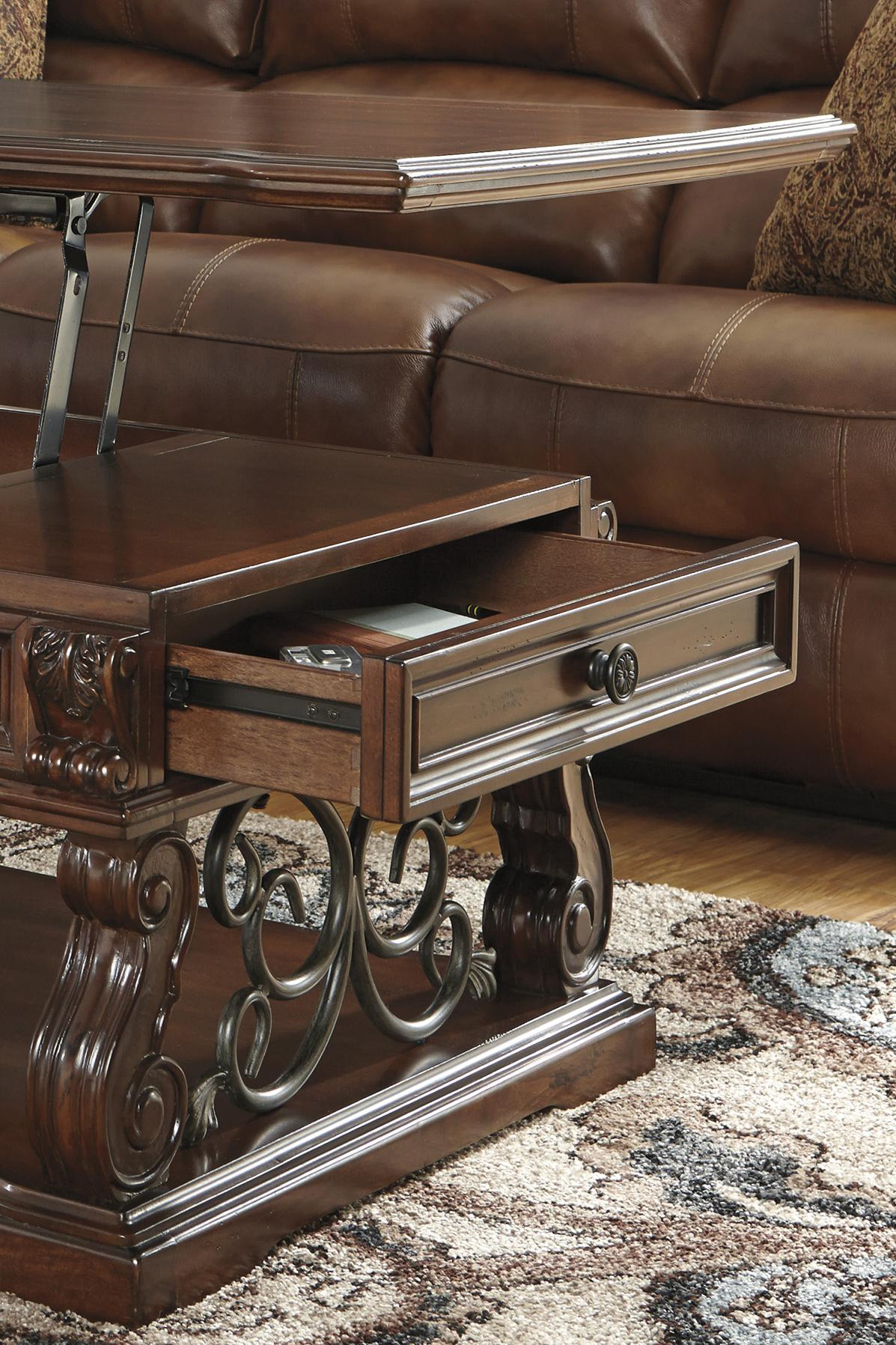 Signature Design By Ashley Alymere Traditional Square End Table With 1  Drawer U0026 1 Shelf | Furniture Fair   North Carolina | End Table  Jacksonville, ...