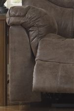 Pillow Topped Arms and Attached Chaise Footrests Provide All Over Comfort