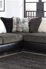 Accent Pillows in Gray, Black, and Off-White Tones